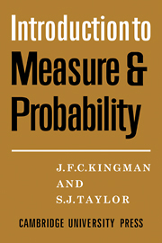 Introdction to Measure and Probability
