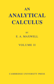 An Analytical Calculus