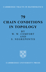 Chain Conditions in Topology