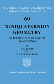 Miniquaternion Geometry
