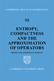 Entropy, Compactness and the Approximation of Operators