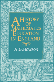 A History of Mathematics Education in England