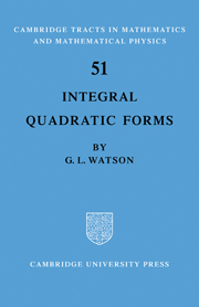 Integral Quadratic Forms