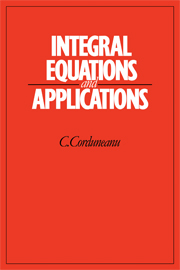 Integral Equations and Applications