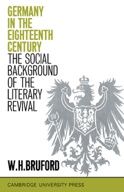 Germany in the Eighteenth Century: The Social Background of the Literary Revival