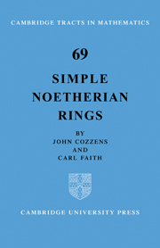Simple Noetherian Rings