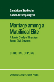 Marriage Among a Matrilineal Elite