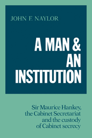 A Man and an Institution
