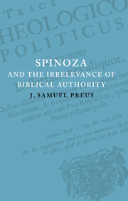 Spinoza and the Irrelevance of Biblical Authority