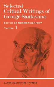 Selected Critical Writings of George Santayana