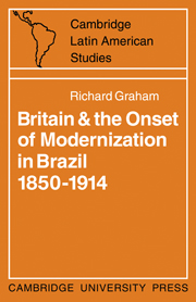 Britain and the Onset of Modernization in Brazil 1850–1914