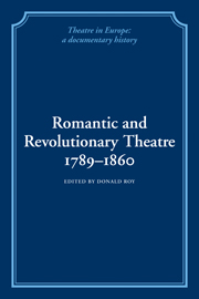 Romantic and Revolutionary Theatre, 1789–1860