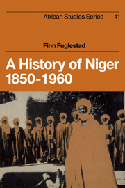 A History of Niger 1850–1960