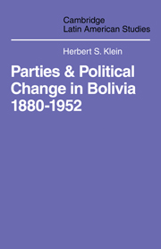 Parties and Politcal Change in Bolivia