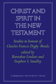 Christ and Spirit in the New Testament