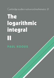 The Logarithmic Integral