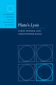 Cambridge Studies in the Dialogues of Plato