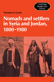 Nomads and Settlers in Syria and Jordan, 1800–1980