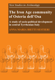 The Iron Age Community of Osteria dell'Osa