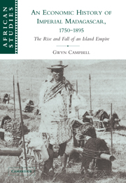 An Economic History of Imperial Madagascar, 1750–1895