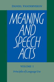 Meaning and Speech Acts