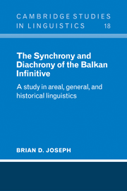 The Synchrony and Diachrony of the Balkan Infinitive