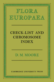 Flora Europaea Check-List and Chromosome Index