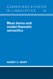 Mass Terms and Model-Theoretic Semantics