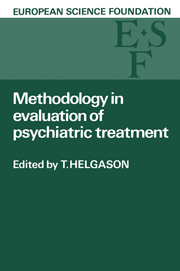 Methodology in Evaluation of Psychiatric Treatment