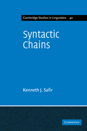 Syntactic Chains