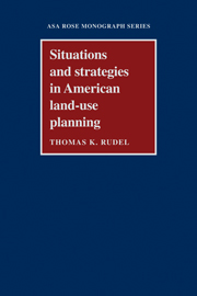 Situations and Strategies in American Land-use Planning