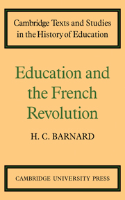 Education and the French Revolution
