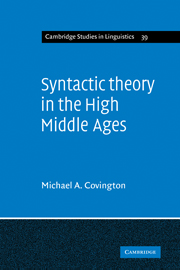 Syntactic Theory in the High Middle Ages