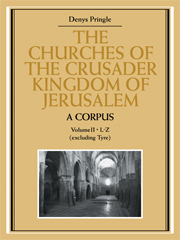 The Churches of the Crusader Kingdom of Jerusalem: A Corpus