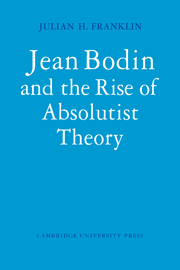Jean Bodin and the Rise of Absolutist Theory