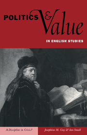Politics and Value in English Studies