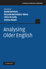 Analysing Older English