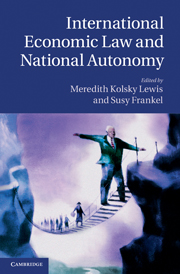 International Economic Law and National Autonomy