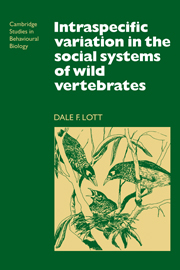 Intraspecific Variation in the Social Systems of Wild Vertebrates