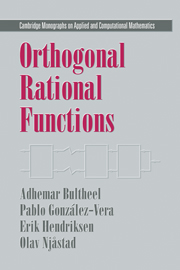 Orthogonal Rational Functions