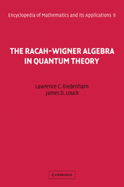 The Racah-Wigner Algebra in Quantum Theory