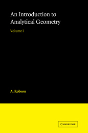 Introduction to Analytical Geometry