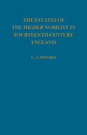 Estates of the Higher Nobility in Fourteenth Century England