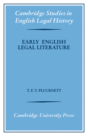Early English Legal Literature
