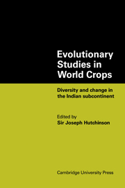 Evolutionary Studies in World Crops