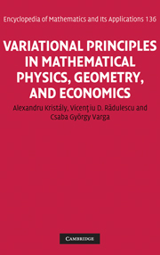 Variational Principles in Mathematical Physics, Geometry, and Economics
