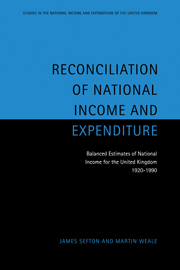 Reconciliation of National Income and Expenditure