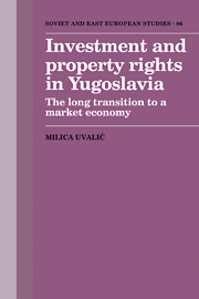 Investment and Property Rights in Yugoslavia