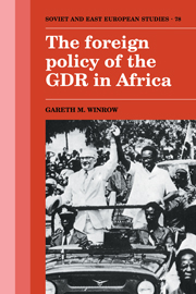The Foreign Policy of the GDR in Africa