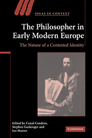 The Philosopher in Early Modern Europe